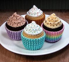 crochet cupcakes free pattern - Google Search