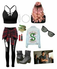 Bow Tony aus der TV-Serie Riverdale - My style - outfit ideen Bad Girl Outfits, Teenage Outfits, Teen Fashion Outfits, Outfits For Teens, Summer Outfits, Emo Fashion, Batman Outfits, Lolita Fashion, Fashion Boots
