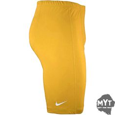 Nike Mens Shorts Basketball Dri Fit Pro Compression Tights Sports Wear Yellow XL