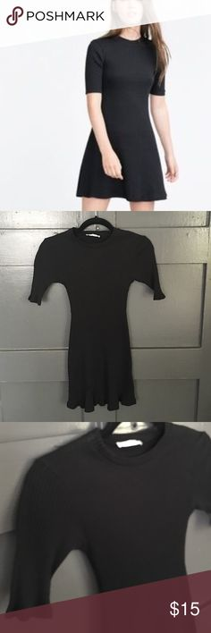 ZARA COTTON RIBBED DRESS Small stretch. Flawless Zara Dresses