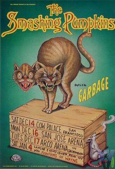 Concert poster:  Smashing Pumpkins, Garbage