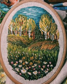 Marvelous Crewel Embroidery Long Short Soft Shading In Colors Ideas. Enchanting Crewel Embroidery Long Short Soft Shading In Colors Ideas. Crewel Embroidery Kits, Hand Embroidery Patterns, Cross Stitch Embroidery, Embroidery Designs, Embroidery Supplies, Contemporary Embroidery, Modern Embroidery, Thread Painting, Silk Painting