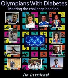 From top left, clockwise: Gary Hall, USA, Swimming, T1 Michel Jelinski , Poland, Rowing, T1 Moises Aldape, Mexico, Cycling, Rides for Team Type 1 (Non D) Sir Steve Redgrave, GBR, Rowing, T2 Pam Fernandes, Paralympic, USA, Cycling, T1 Barney Storey, Paralympic, GBR, Cycling, T1 Vegard Stake Laengen, Norway, Cycling, Rides for Team Type 1 (Non D) Matthias Steiner, Germany, Weightlifter, T1 Kevin Hansen, USA, Volleyball, T1 Chris Jarvis, Canada, Rowing, T1 Glen Chadwick, NZ,Cycling
