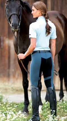 """Turn your backside into your best side with the most popular and flattering Kerrits fullseat breeches. Smartly sticky, Gripstretch™ panel mapping holds strategically while Durabreathe™ fabric offers ultimate breathability. Comfy 2"""" Flow Rise waistband, belt loops and a convenient side pocket.   Flex Tight II Fullseat 