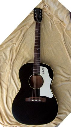 Gibson B 25 1968 Rare Black With A White