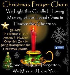Christmas Prayer Chain miss you family quotes heaven in memory christmas christmas quotes christmas quote christmas quotes about losing loved ones christmas in heaven quotes christmas in memory quotes