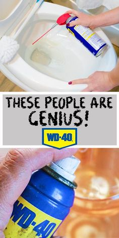 Borderline genius wd 40 uses you had no idea about Household Cleaning Tips, Deep Cleaning Tips, House Cleaning Tips, Diy Cleaning Products, Spring Cleaning, Cleaning Hacks, Cleaning Supplies, Natural Cleaning Solutions, Homemade Products