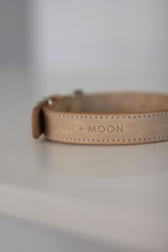Leather Dog Collar | Benji + Moon #dogs #collars #leather