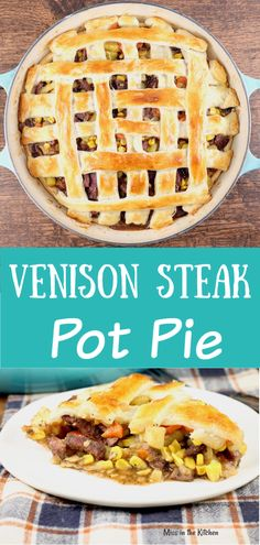 Venison Steak Pot Pie is a hearty meal with amazing flavors. A double crust pot pie that can be made with beef or venison, vegetables and easy onion gravy. Perfect for those comfort food cravings. potpie steak venison via 237213105359706570 Venison Pie, Canned Venison, Venison Recipes, Deer Recipes, Game Recipes, Deer Steak Recipes, Recipies, Salad Recipes, Milk Recipes