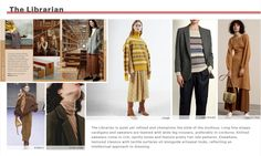Librarian theme from WGSN A/W 2018-2019 Thinker