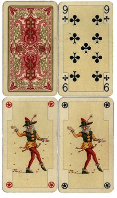 Wings of Whimsy: Antique French Playing Cards - Others - free for personal use #ephemera #printable #vintage