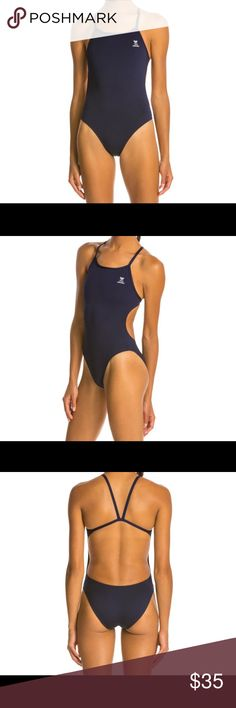 NEW (w/o tags liner in place) TYR Thin-X Fit Navy NAVY minimum coverage suit, size 36 TYR Thin-X Fit: NWOT(new without tags), but LINER in place. Durafast one, lasts 20x longer. This is a very open back that has an opening along ribcage. 94% poly, 6% spandex. Never worn or washed, brand new! 🌸Item qualifies for a free gift with purchase, please see my closet for items listed as free gifts. TYR Swim One Pieces