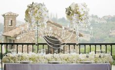 By Blush Botanicals; Another centerpiece idea for table