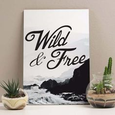 placa wild and free 20x29