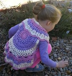 This is another mandala vest that has been adapted from a vintage doily pattern. The pattern will fit a chest of about 56cm: if you want a larger size, increase the size of your hook.