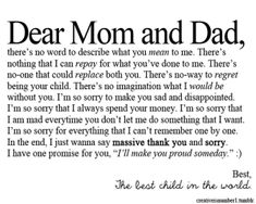 dear mom and dad Parents Quotes From Daughter, Mom And Dad Quotes, Dear Parents, Daughters, Proud Quotes, Hurt Quotes, Famous Quotes, Strong Quotes, Broken Family Quotes