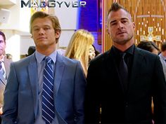 Sandrine Holt, George Eads, Tristin Mays, and Lucas Till in MacGyver (2016)