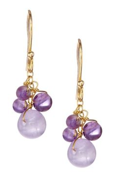 Amethyst & Purple Chalcedony Dangle Earrings by Candela on @HauteLook