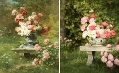 Pageant of the Masters is a new column on the blog where photographer Kate Osborne, floral designer Ashley Beyer of Tinge Floral, and I recreate paintings in real life.