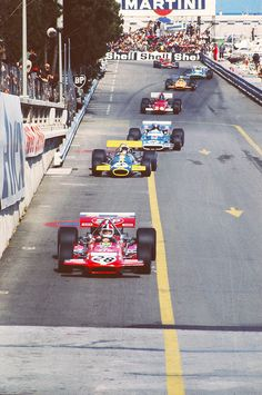 "Monaco GP, 1970, Chris Amon, Jack Brabham, Jean-Pierre Beltoise, Jackie Ickx, Denny Hulme, Henri Pescarolo and Jochen Rindt before he ""woke-up""..."