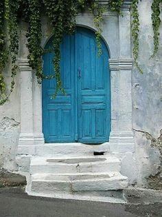 Beautiful  entryway door in Crete