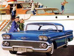 Plan59 :: Classic Car Art :: Vintage Ads :: 1958 Chevrolet Impala