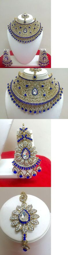 Gentle Classical Fashion Semi Bridal Necklace Set With Clear Emerald And Ruby Stones Engagement & Wedding Jewelry & Watches