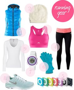 Winter workout running gear outfit. Definitely need to start buying some warmer workout clothes for the icy winter coming up!