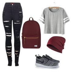 """""""Untitled #18"""" by elisha-m-ronald on Polyvore featuring 2LUV, NIKE and Herschel Supply Co."""
