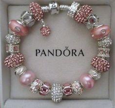 Tendance Bracelets -  Authentic-Pandora-Bracelet-silver-8-3-with-charms-Pink-Champagne. ad6563559cd2