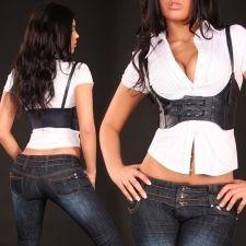 9,90€ Stretchvyö (B101-musta) Ruffle Blouse, Crop Tops, Jeans, Women, Fashion, Moda, Fashion Styles, Fashion Illustrations, Denim