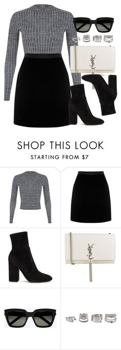 """Style #11535"" by vany-alvarado ❤ liked on Polyvore featuring Miss Selfridge, Valentino, Yves Saint Laurent and Forever 21"
