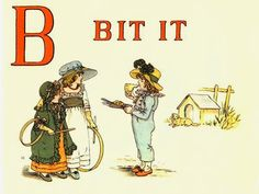Kate Greenaway's A Apple Pie Illustrated alphabet book.  Complete illustrations at The Storybook Project.