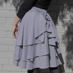 Bustle Skirt in Jersey | Sew: Me