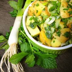 Have some extra mint? Make this GF Syrian Potato Salad from The Lemon Bowl