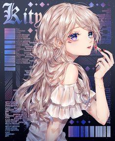 Blonde Anime Girl, Anime Girl Cute, Beautiful Anime Girl, Anime Art Girl, Manga Girl, Anime Girls, Anime Chibi, Kawaii Anime, Manga Anime