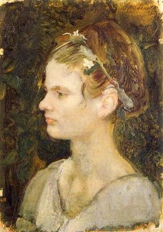 Maiden Crowned with Flowers by Armando Spadini.