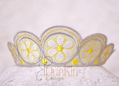 Daisy Doll Crown - 5x7 | What's New | Machine Embroidery Designs | SWAKembroidery.com