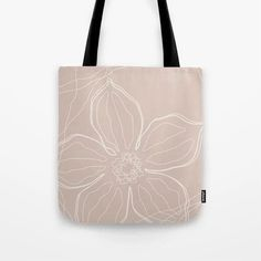 """High quality pink tote bag perfect for your shopping or as a yoga bag for a stylish look. The floral line art design is in neutral earthy color. Available sizes 13""""x13"""" 16""""x16"""" 18""""x18"""". Pink Tote Bags, Printed Tote Bags, Reusable Tote Bags, Line Art Design, Cute Presents, Gifts For An Artist, Yoga Bag, Tote Backpack, Summer Accessories"""
