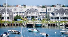 Summer Harbor scene on Nantucket Island.