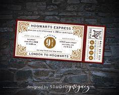 CUSTOM Harry Potter Hogwarts Express Ticket Printable