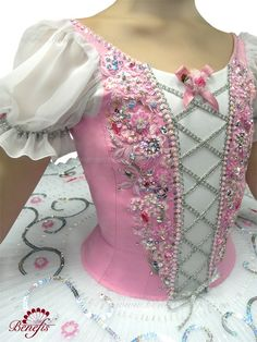Kitri Tutu - strands of sequins used for swirls