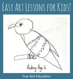 Easy art lessons for kids!  Step by step drawing lessons enable children to draw whatever they want.