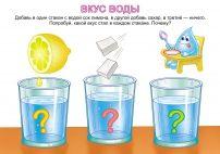 Опыты для детей в картинках: Вкус воды
