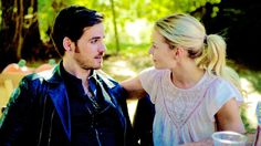 Colin O'Donoghue -Killian Jones - Captain Hook and  Jennifer Morrison - Emma Swan on Once Upon A Time 6x3