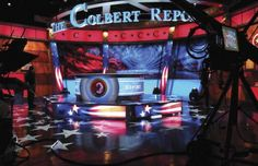 #ICS Named Christie Digital Dealer, Offering High Performance Digital Projectors And Visual Solutions.  Photo of Christie Digital's #MicroTiles, used on the #TheColbertReport. Photo by Christie Digital