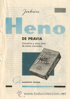Página Publicidad Original *Jabón HENO DE PRAVIA - GAL* -- Año 1957