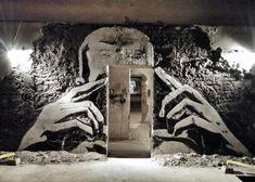 The Lens - Artwork carved into a wall cm 3d Street Art, Amazing Street Art, Street Art Graffiti, Sculpture Art, Sculptures, Contemporary Theatre, Art Mur, Graffiti Photography, Urbane Kunst
