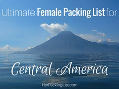 Check out this packing list for Central America before you leave for your trip. This is what Ali recommends for Belize, Guatemala, Honduras and El Salvador.