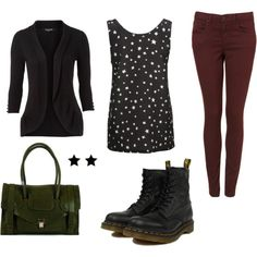 My first polyvore outfit! Winter wear.